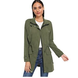 Jackets & Blazers - Price ⬇️ Was $48 Army Green Spring Trench Coat